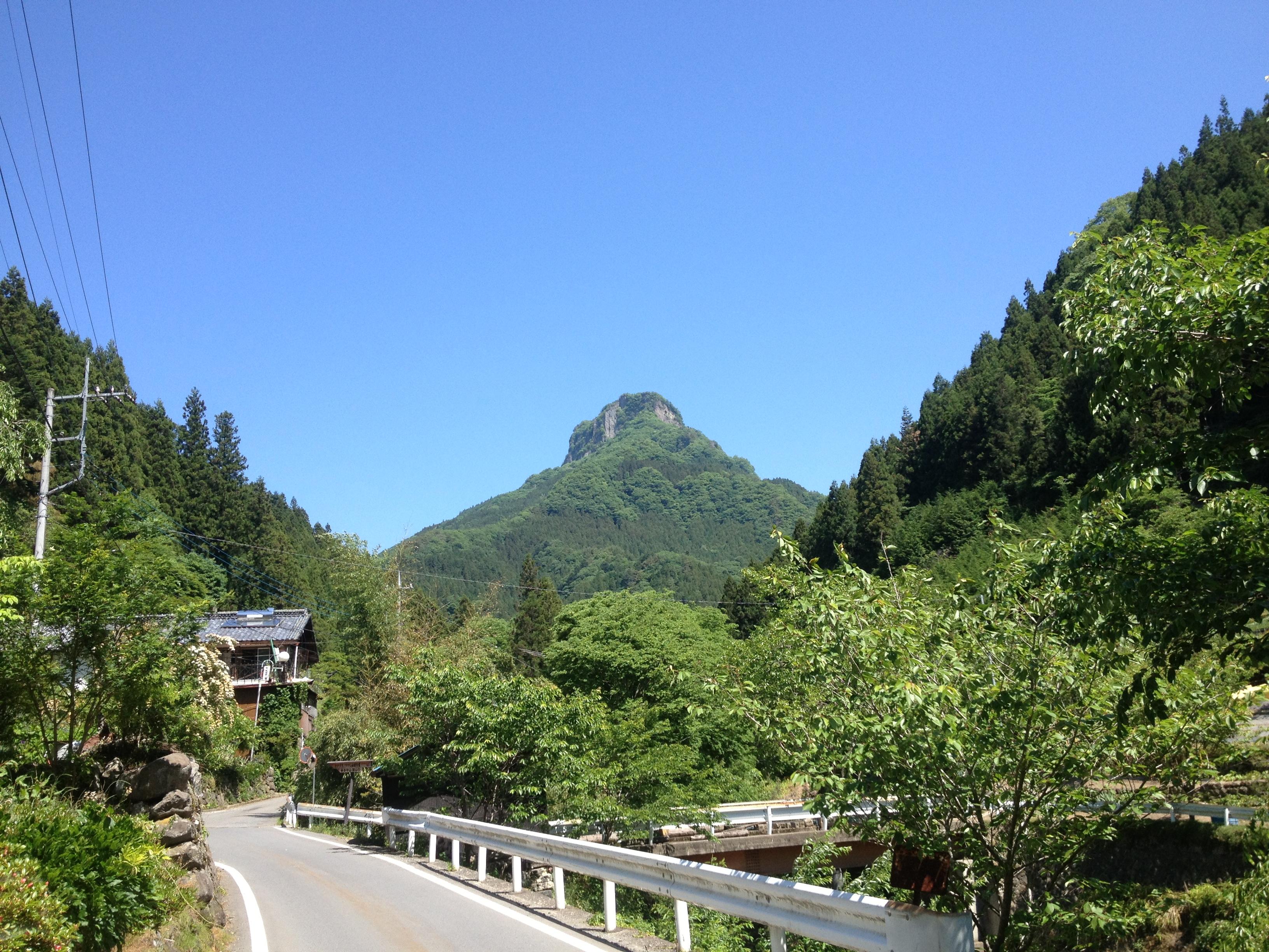 山の中へ入る道