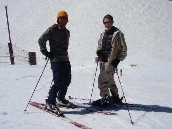 せっかくなのでスキーも。